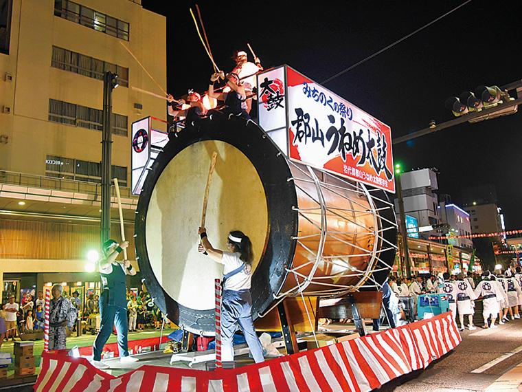 日本最大級の「うねめ太鼓」も登場!
