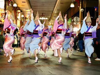 郡山駅前が阿波おどり会場に!踊り流しに参加しよう