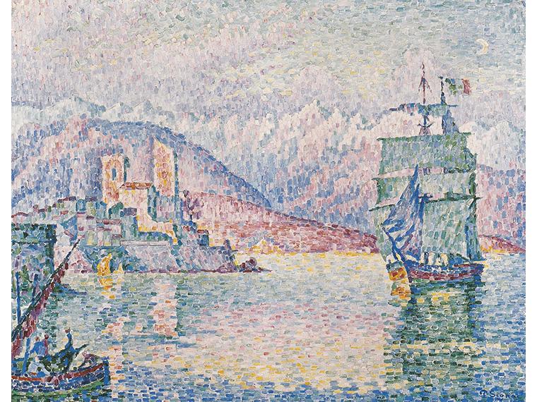 ポール・シニャック《アンティーブ、夕暮れ》1914年 Musée d'Art Moderne et Contemporain de Strasbourg. Photo Musées de Strasbourg.
