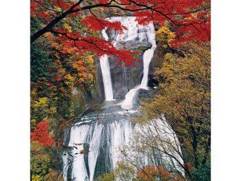 日本三名瀑のひとつに数えられる『袋田の滝』の秋