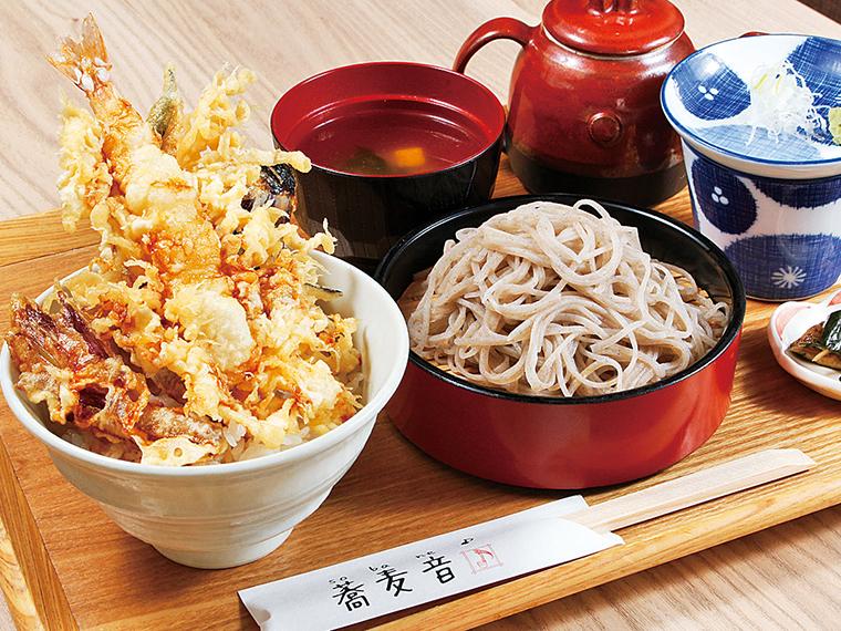「平日限定!蕎麦音の選べるランチ」(1,080円)※月〜金曜日のみ。ご飯がなくなり次第終了