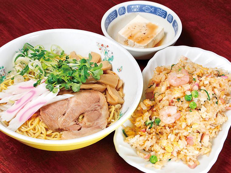 「宝セット(宝ソバ+ミニチャーハン)」(1,000円)