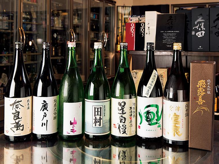 福島県内の銘酒が豊富に揃う。ここでしか扱っていない限定品などもある