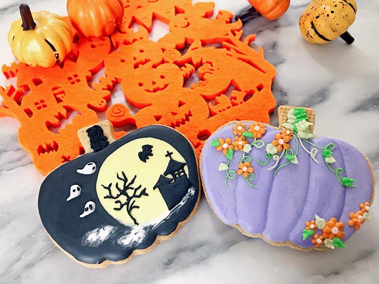 ハロウィンにもぴったりなアイシングクッキー作りも楽しめる
