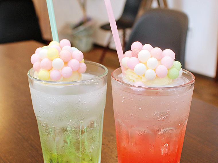 グリーンアップルとピンクグレープフルーツの2種から選べる