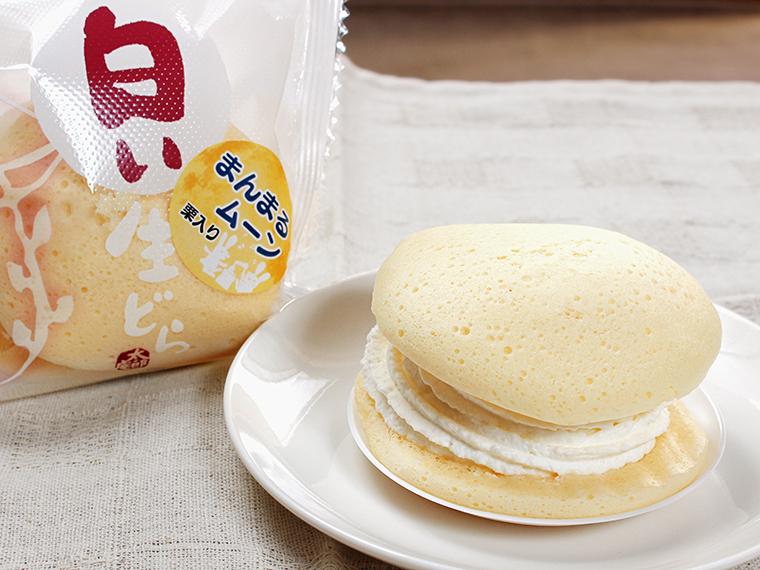 「まんまるムーン 白い生どら」(1個・248円)