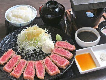 厳選した一枚肉を使った牛カツ!焼き加減とタレはお好みで