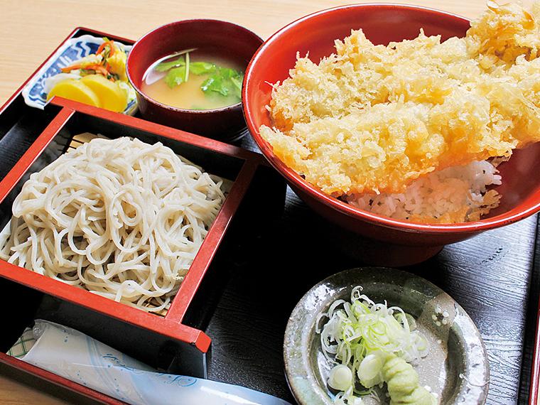 「穴子丼そば付き」(1,250円)※そばがなくなり次第終了