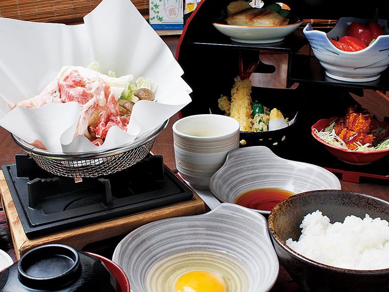 「和牛すき焼きとかまくら御膳」(2,079円)