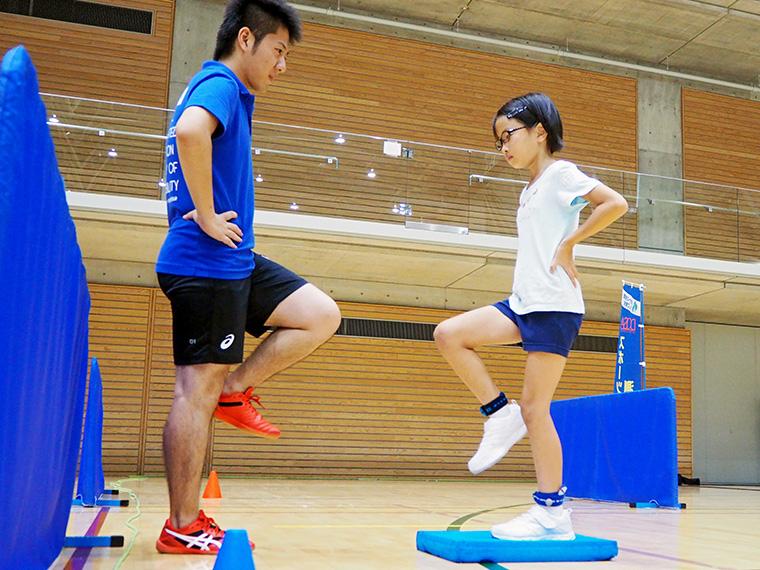 バランス感覚など運動能力をチェック!