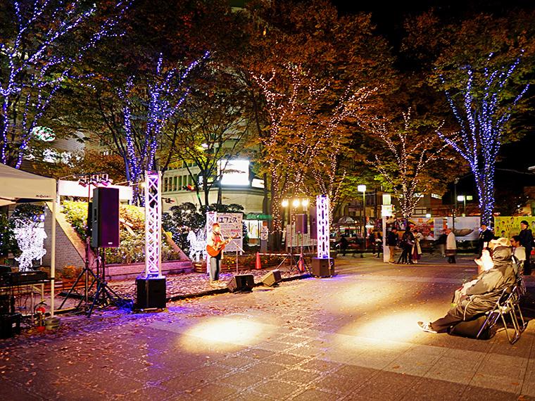 福島駅前のイルミネーションが点灯!ボジョレーヌーボーで乾杯しよう