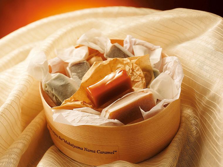 すぅーっと口の中でとろける生キャラメル。素材の味が生きた上品な甘さが自慢の逸品だ