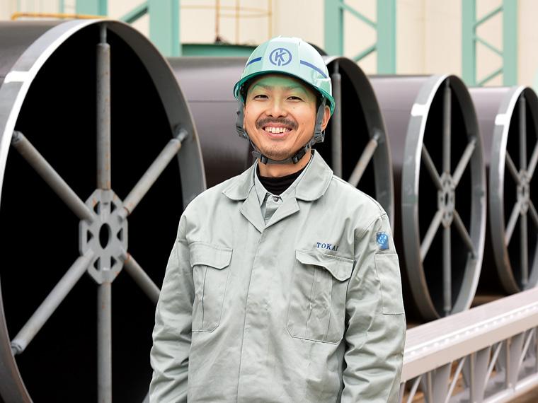 製造部製缶加工1G・笹川暁弘さん(2016年入社)