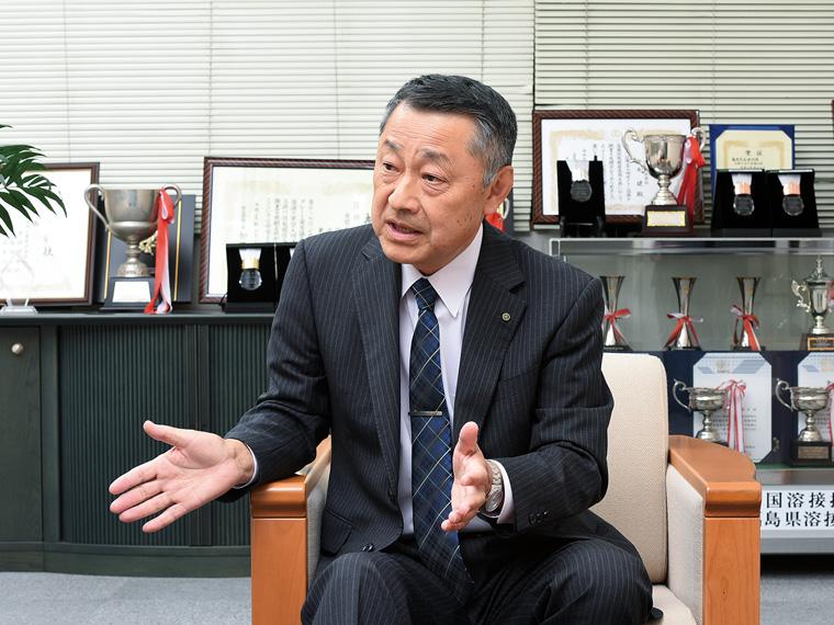 若手社員への期待を語る髙野社長