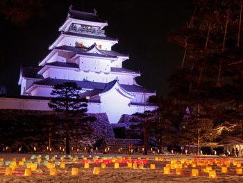 会津若松市内各所に、温かなろうそくの明かりが灯る2日間