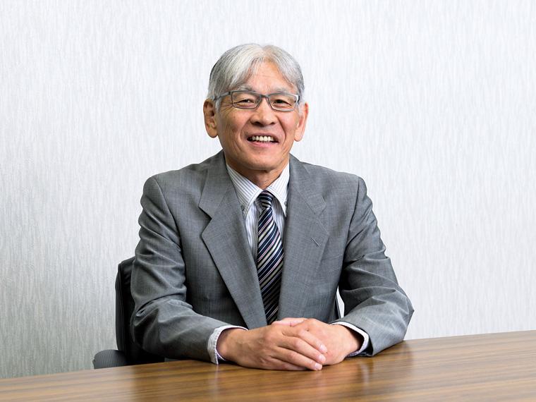 代表取締役社長の五月女久男氏。「私たちと一緒に車両やサービスの提供を通して地域に貢献しましょう」