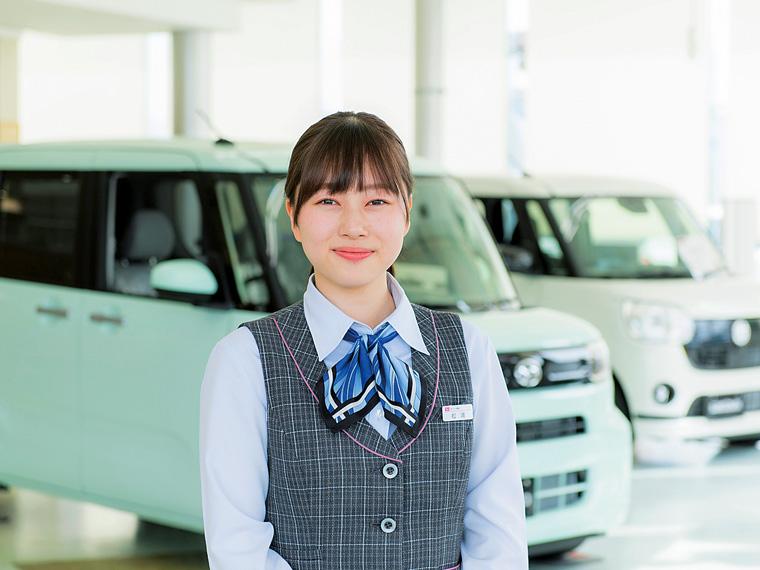 ダイハツ福島 営業・松浦真美さん(2017年入社)