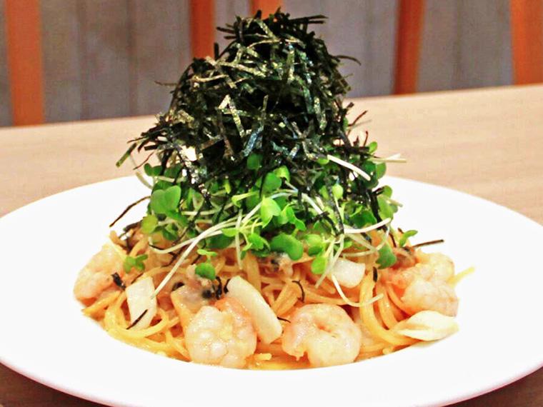 魚介の風味がきいた「CUCINA風スパゲティ」(1,000円)