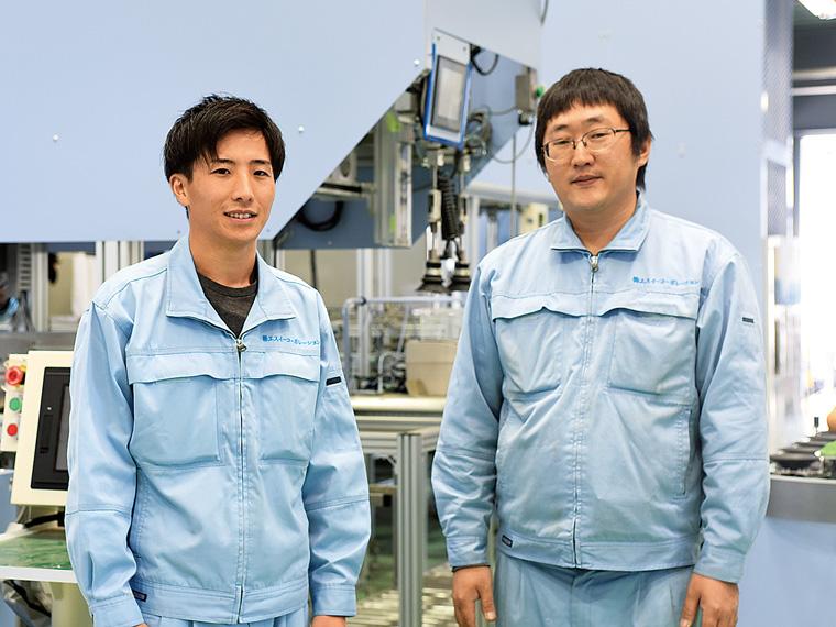 電気空調事業部の齋藤 潤さん(写真左)、営業技術部の佐藤貴文さん(写真右)