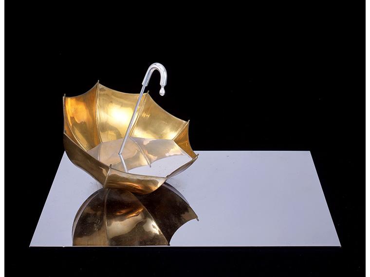 建畠覚造《さ傘(天の点滴を此の盃に)小》1973年、福島県立美術館蔵
