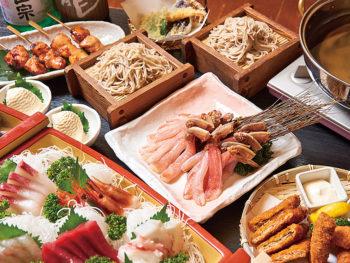 ダシの利いた、カニしゃぶを日本酒と一緒に!個室で飲み放題3時間&そば食べ放題を堪能‼