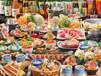 15周年記念!福島牛・刺身盛り・鶏釜など全10品が、「2.5H飲放付」で「5,000円→4,000円」に