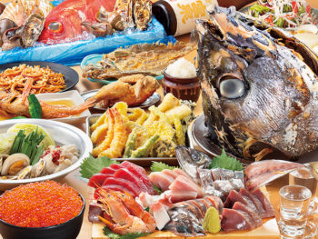 「漁師のいくら飯」や「大漁刺し盛り」を堪能!地酒30種類も飲み放題の5,000円コース‼