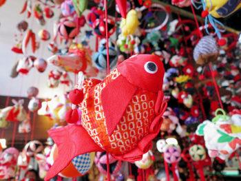 水族館のひな祭り!海の生き物のつるし飾りが、来場者をお出迎え
