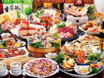 牛ステーキ・いくら飯など全10品に「飲放2.5時間」が、15周年記念で「平日5,000円→4,000円」に