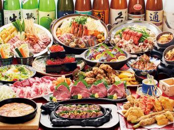 15周年記念!串揚5種、円盤餃子など贅沢10品と「2.5時間飲放付」で、「5,000円→4,000円」に