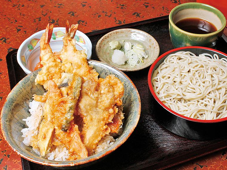 「海老天丼」(1,000円)※かけそばに変更可