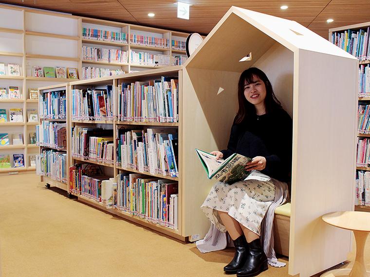 「こどもライブラリー」。子ども心をくすぐる秘密基地のような読書スペース