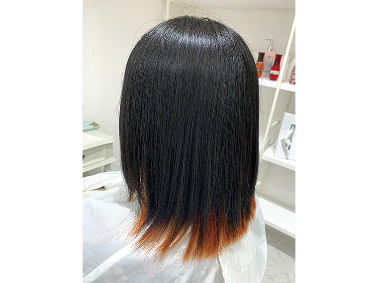 インナーカラーや、毛先に色を入れた裾カラーなど、色もバリエーションも豊富な「デザインカラー」
