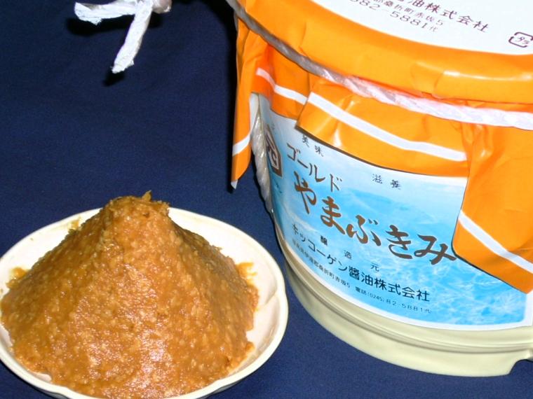 【キッコーゲン醤油株式会社】ゴールドやまぶき味噌(4kgタル入り)3,440円