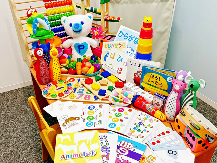 2,000種類もの教材があるので、子どもの成長に合わせたレッスンができる