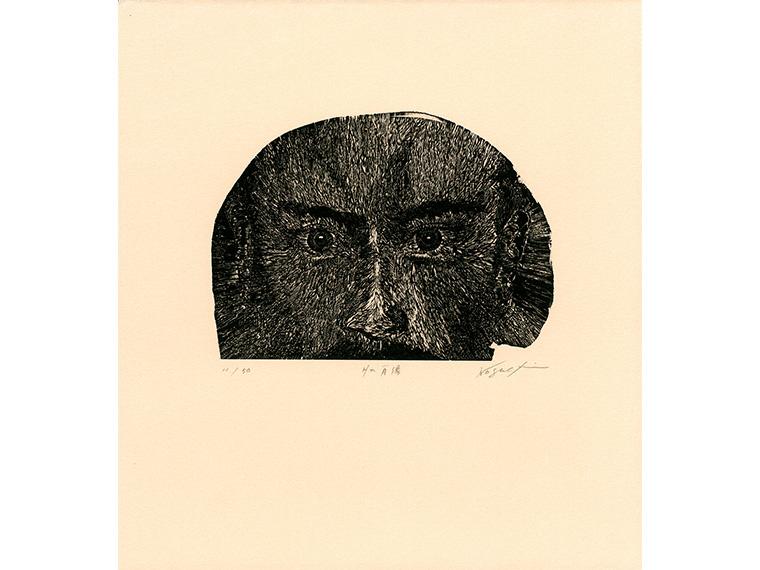 野口和洋「Hの肖像」1999年、木口木版