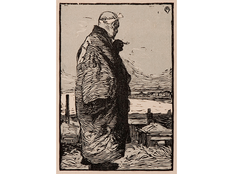 山本鼎《漁夫》(『明星』辰歳第7号 所収) 1904年 和歌山県立近代美術館蔵