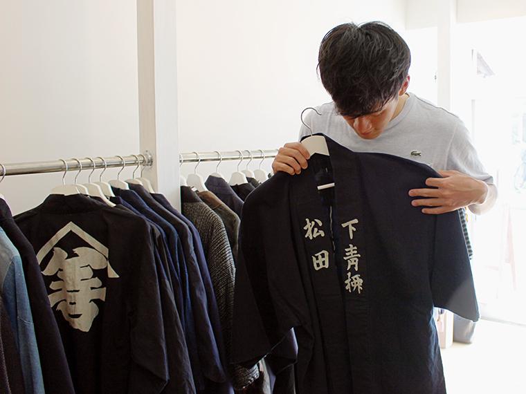 「松田」の名入り半てんを発見!監督に着ていただきたい!