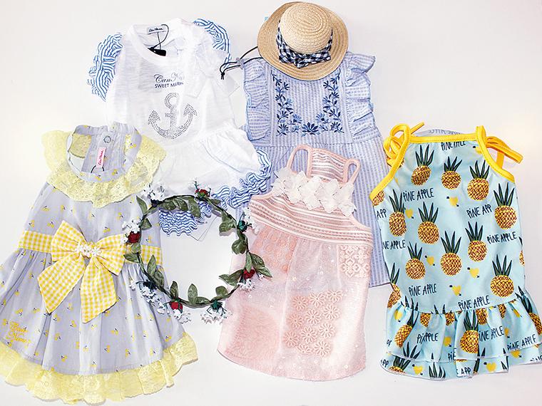 かわいらしい夏服が30%から50%オフ(一部除外品あり)。雑貨は500円以上購入で30%オフに