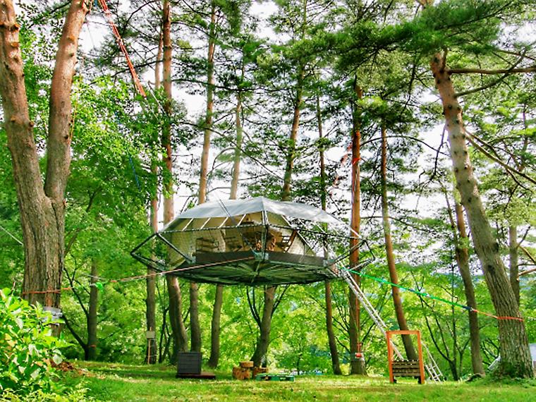 森に浮かぶ「吊り上げタイプ」