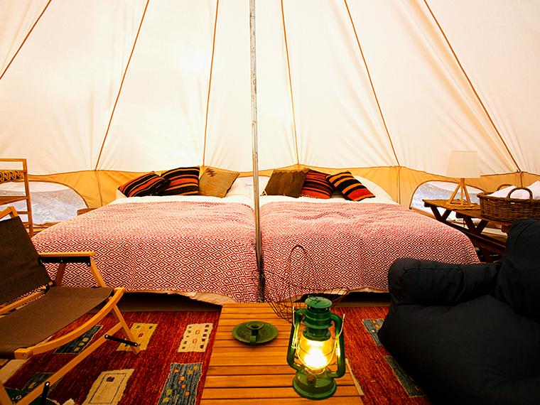 冷暖房完備のノルディスクのテント