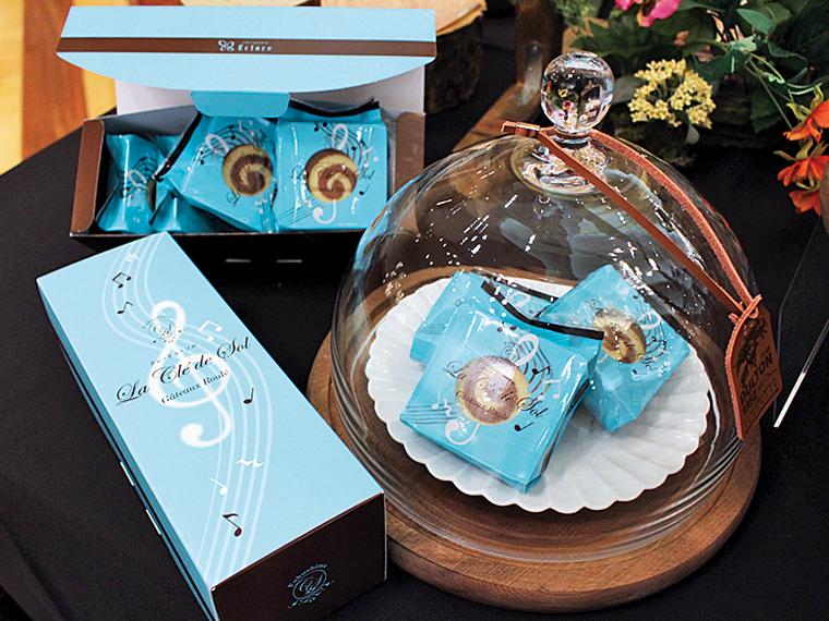 音符をモチーフにした「パティスリーエクロール」の福島県産米粉のクッキー