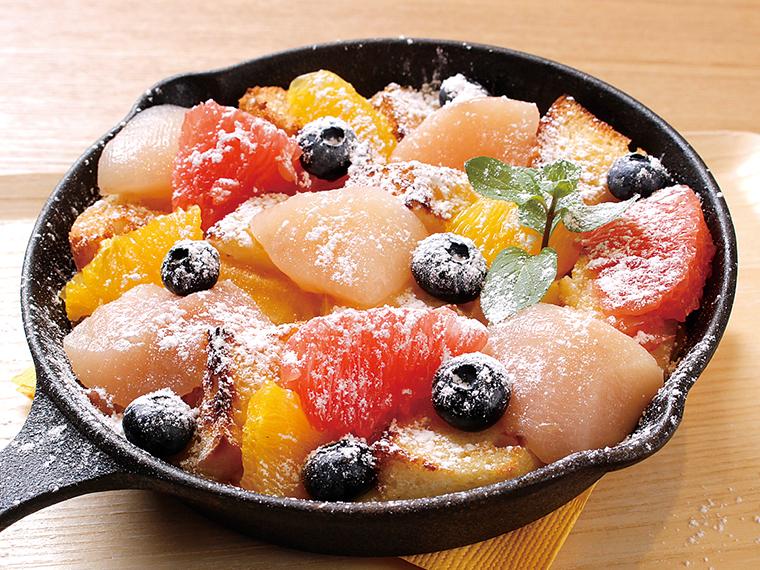 『midi』の「福島フルーツのフルーツパングラタン」(550円)※税別