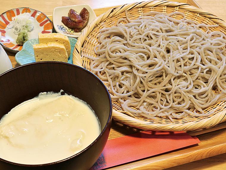 「豆乳ゆばそば」(1,350円)