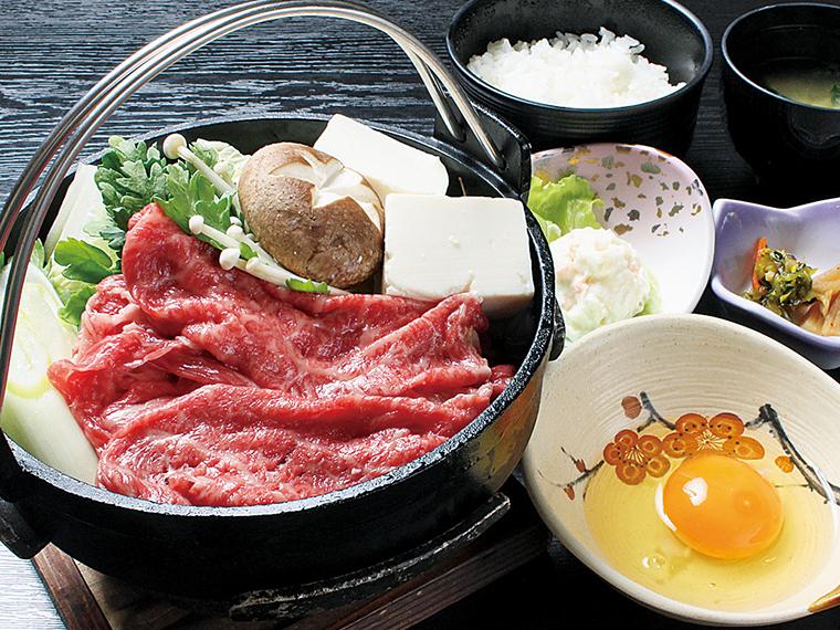福島牛の「すき焼きランチ」(100g・2,090円)