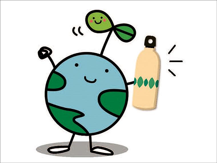 福島県の地球環境保全のキャラクター「エコたん」