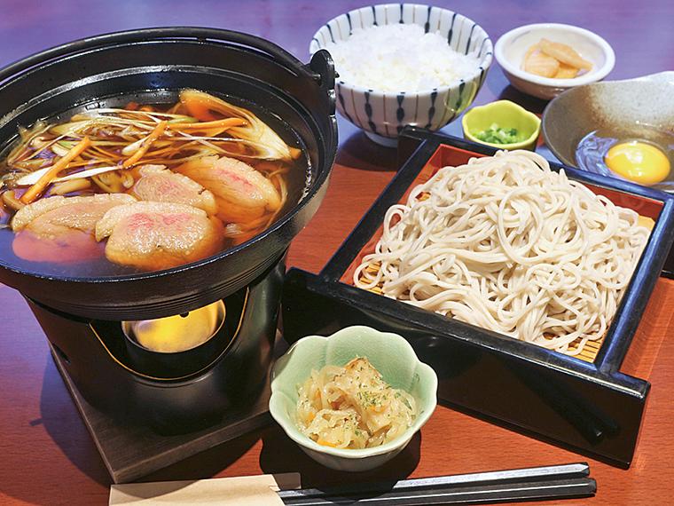 「鴨鍋そば+雑炊セット」(1,098円)※単品は935円