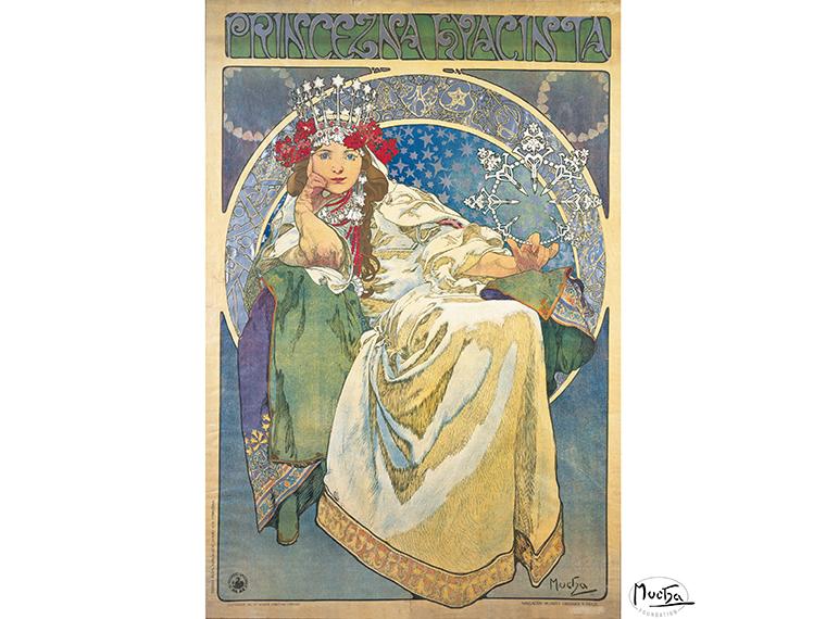 アルフォンス・ミュシャ《ヒヤシンス姫》より 1911年 カラーリトグラフ (C)Mucha Trust 2020