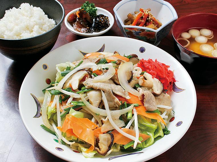 「野菜炒め定食」(970円)