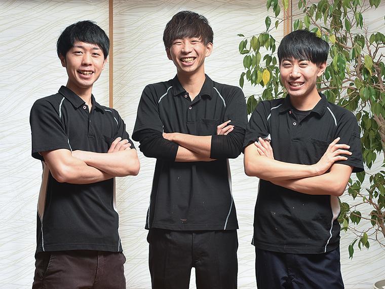 キャリアアップのための勉強会があるなど、若手職員も切磋琢磨しながらイキイキと働いている